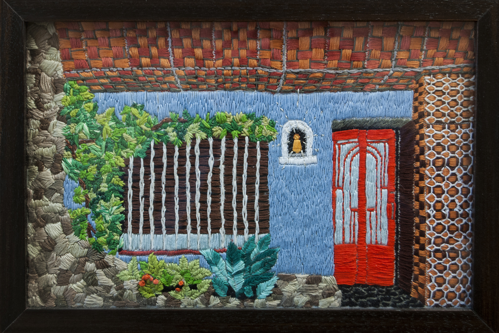 casa entre medianeras_bordado 27x40x25 (2016) frente